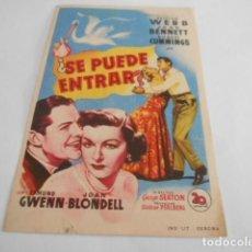 Cine: 5 - FOLLETO DE CINE - CON PUBLICIDAD - CINE ALAMEDA - SE PUEDE ENTRAR. Lote 205693260