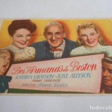 Cine: 5 - FOLLETO DE CINE - CON PUBLICIDAD - CINE AVELLANEDA - DOS HERMANAS DE BOSTON. Lote 205694318