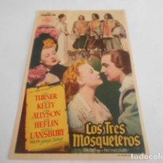 Cine: 5 - FOLLETO DE CINE - CON PUBLICIDAD - CINE TALIA - LOS TRES MOSQUETEROS. Lote 205694458