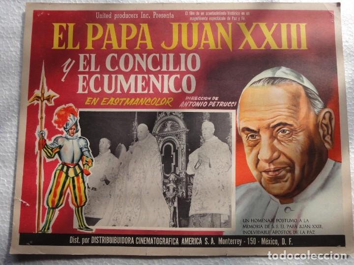 CARTEL ORIGINAL LA GRANDE ORA CONCILIO ECUMENICO VATICANO JUAN XXIII ANTONIO PETRUCCI 1963 UNITED (Cine - Folletos de Mano - Documentales)