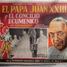 Cine: CARTEL ORIGINAL LA GRANDE ORA CONCILIO ECUMENICO VATICANO JUAN XXIII ANTONIO PETRUCCI 1963 UNITED. Lote 205711031