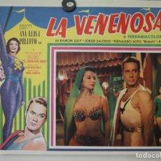 Cine: MEXICAN LOBBY CARD LA VENENOSA ANA LUISA PELUFO RAMON GAY MIGUEL MORAYTA 1958. Lote 205715916