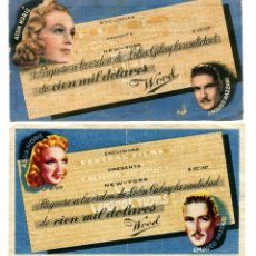 Folhetos de mão de filmes antigos de cinema: CIEN MIL DÓLARES, CON AMADEO NAZZARI.. Lote 205719183