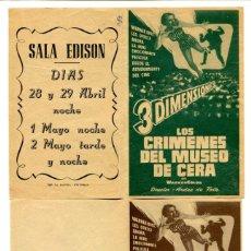 Cine: LOS CRÍMENES DEL MUSEO DE CERA, CON VINCENT PRICE.. Lote 205721123