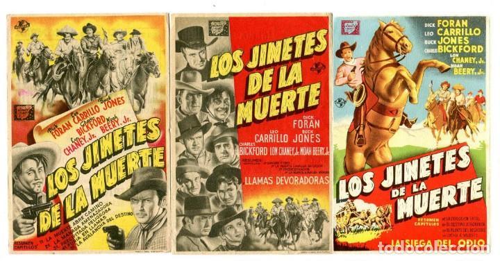 LOS JINETES DE LA MUERTE, (3 JORNADAS) CON BUCK JONES. (Cine - Folletos de Mano - Westerns)