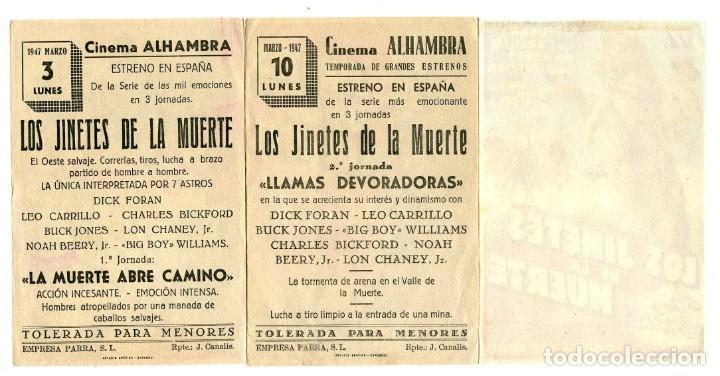 Cine: LOS JINETES DE LA MUERTE, (3 jornadas) con Buck Jones. - Foto 2 - 205779100