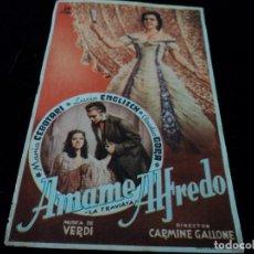 Cine: AMAME ALFREDO - LA TRAVIATA GIUSEPPE VERDI MARIA CEBOTARI - LUCIA ENGLISCH. Lote 205799283