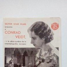 Cine: FOLLETO DE CINE EL JUDIO ERRANTE CON CONRAD VEIDT SILVER STAR FILMS. Lote 205821365