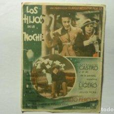 Cine: PROGRAMA LOS HIJOS DE LA NOCHE - ESTRELLITA CASTRO PUBLICIDAD. Lote 205855306