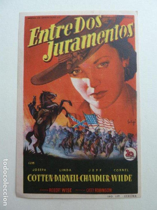 ENTRE DOS JURAMENTADOS. S/P. SOLIGÓ (Cine - Folletos de Mano - Westerns)