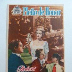 Folhetos de mão de filmes antigos de cinema: PROGRAMA. PLEITO DE HONOR. S/P. Lote 206016348