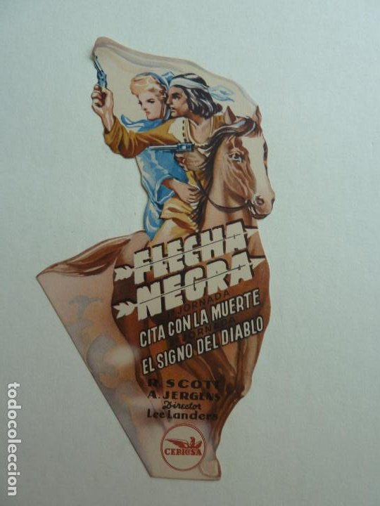 FLECHA NEGRA. TROQUELADO CON SELLO CINE (Cine - Folletos de Mano - Westerns)