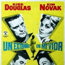 Cine: PROGRAMA DE MANO. UN EXTRAÑO EN MI VIDA (RICHARD QUINE), 1964. KIRK DOUGLAS KIM NOVAK WALTER MATTHAU. Lote 206147845