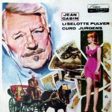 Cine: PROGRAMA DE MANO. EL FALSIFICADOR DE ARGENTEUIL (JEAN PAUL LE CHANOIS) 1968. JEAN GABIN. Lote 206147846