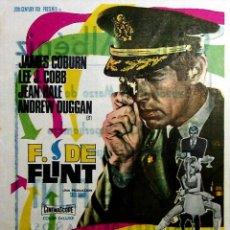 Cine: PROGRAMA DE MANO. F. DE FLINT (GORDON DOUGLAS) 20TH CENTURY FOX, 1968. JAMES COBURN LEE J. COBB. Lote 206147850