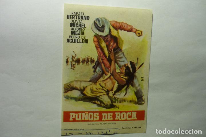 PROGRAMA PUÑOS DE ROCA.-RAFAEL BERTRAND (Cine - Folletos de Mano - Westerns)