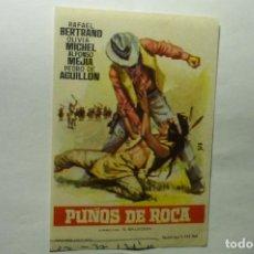 Cine: PROGRAMA PUÑOS DE ROCA.-RAFAEL BERTRAND. Lote 206177587