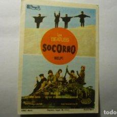 Cine: PROGRAMA SOCORRO - LOS BEATLES PUBLICIDAD. Lote 246347815