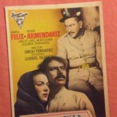Flyers Publicitaires de films Anciens: FOLLETO DE MANO BELLEZA MALDITA. MARIA FELIX. SIN PUBLICIDAD. Lote 206184688