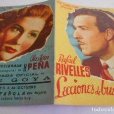 Cine: 10 - FOLLETO CINE - CON PUBLICIDAD - CINE GOYA - LECCIONES DE BUEN AMOR. Lote 206238598