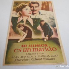 Cine: 10 - FOLLETO CINE - CON PUBLICIDAD - CINE CAPITOL - MI ILUSION ES UN MARIDO. Lote 206239791