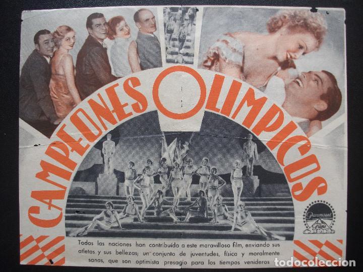 Cine: CAMPEONES OLÍMPICOS, BUSTER CRABBE, CINE POPULAR, CENTRE VILASSANÉS, 1935 - Foto 2 - 206306670