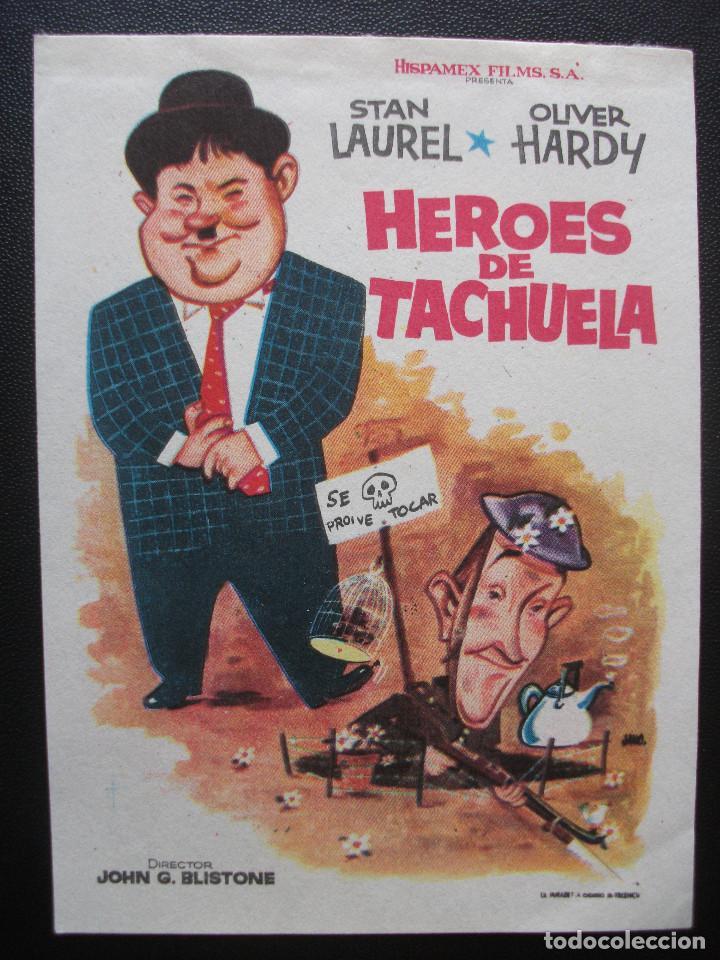 HEROES DE TACHUELA, STAN LAUREL, OLIVER HARDY (Cine - Folletos de Mano - Comedia)
