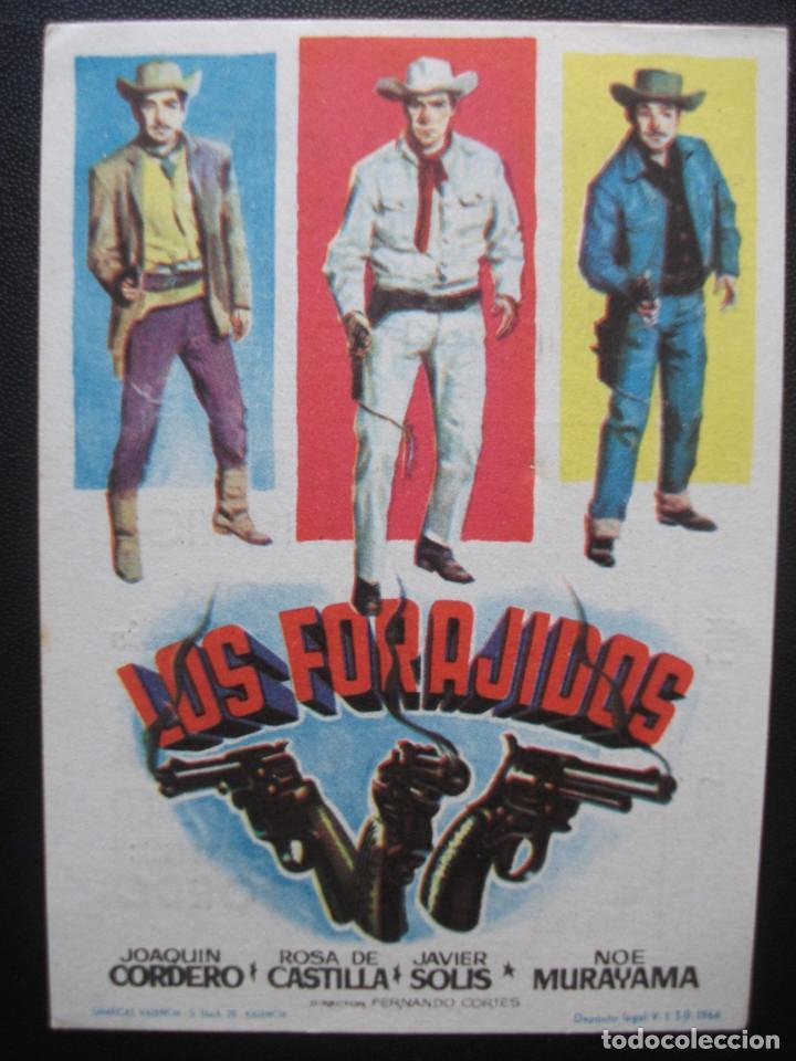 LOS FORAJIDOS, JOAQUIN CORDERO, CINE CAPITOL DE MÁLAGA (Cine - Folletos de Mano - Westerns)