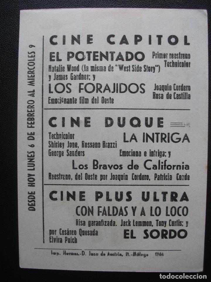 Cine: LOS FORAJIDOS, JOAQUIN CORDERO, CINE CAPITOL DE MÁLAGA - Foto 2 - 206313737