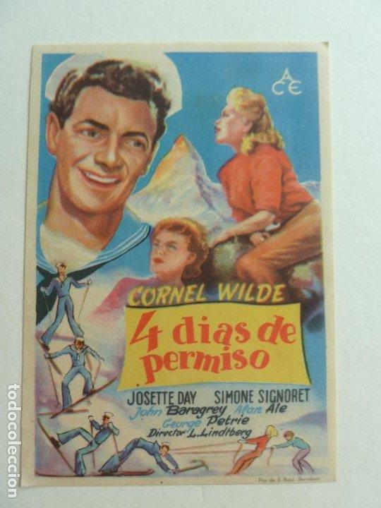 4 DÍAS DE PERMISO. S/P (Cine - Folletos de Mano - Comedia)