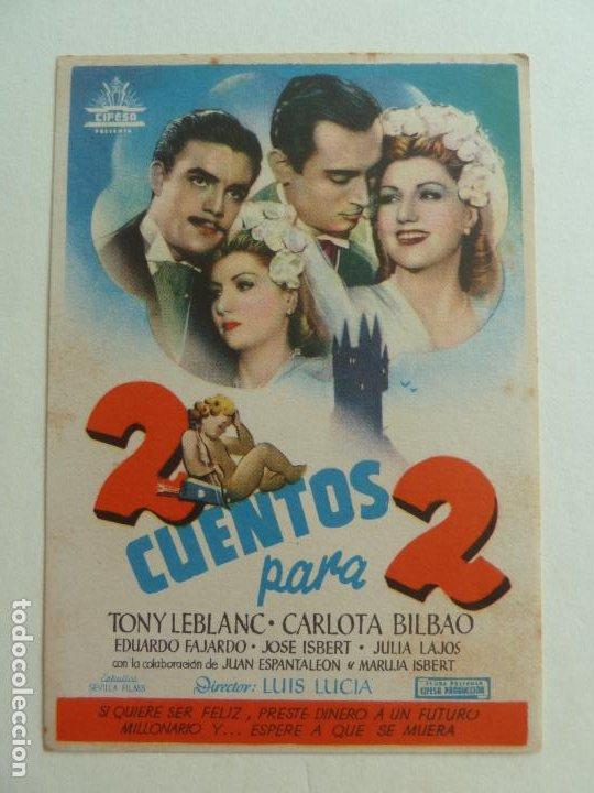 2 CUENTOS PARA 2. SELLO CINE (Cine - Folletos de Mano - Clásico Español)