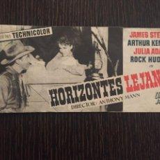 Cine: HORIZONTES LEJANOS - DOBLE UNIVERSAL - CON PUBLICIDAD. Lote 206327422