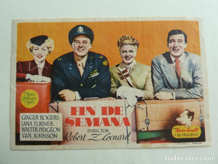 FIN DE SEMANA. S/P (Cine - Folletos de Mano - Comedia)