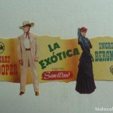 Cine: PROGRAMA TROQUELADO. LA EXÓTICA. S/P. Lote 206330812