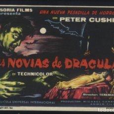Cine: P-8699- LAS NOVIAS DE DRACULA (THE BRIDES OF DRACULA) PETER CUSHING - YVONNE MONLAUR - DAVID PEEL. Lote 206361352