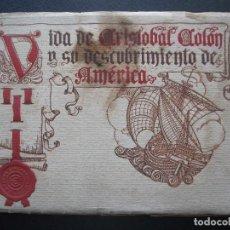 Cine: VIDA DE CRISTOBAL COLON Y SU DESCUBRIMIENTO DE AMERICA, 24 PAG. + TAPAS. Lote 206412151