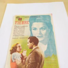 Cine: CARTELES DE CINE: FIEBRE 1943.FORMATO , 13* 19. PRECIO PROVISIONAL.. Lote 206432830