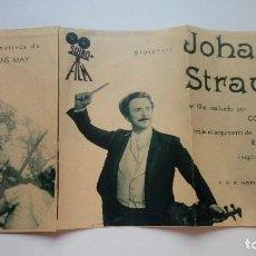 Cine: FOLLETO DE CINE JOHANN STRAUSS SAIRO FILM PROGRAMA DESPLEGABLE. Lote 206458601