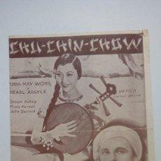 Cine: FOLLETO DE CINE CHU CHIN CHOW CON ANNA MAY WONG Y PEARL ARGYLE ATLANTIC FILMS PROGRAMA DOBLE. Lote 206459090