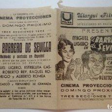 Cine: FOLLETO DE CINE EL BARBERO DE SEVILLA CON ESTRELLITA CASTRO DE 1939 ULARGUI FILMS. Lote 206459386
