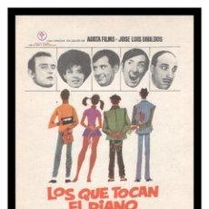 Cine: FOLLETO DE MANO, LOS QUE TOCAN EL PIANO, TONY LEBLANC, CONCHITA VELASCO ALFREDO LANDA Y DEMAS.. Lote 206464918