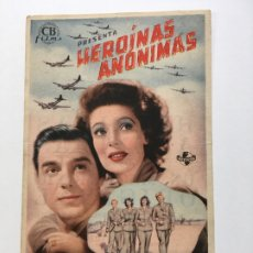 Cine: HEROÍNAS ANÓNIMAS - PROGRAMA DE CINE BADALONA C/P 1946. Lote 206470467