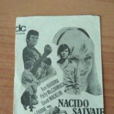 Cine: PROGRAMA DE CINE ..NACIDO SALVAJE. Lote 206478406