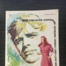 Cine: EL FARSANTE - PROGRAMA DE CINE BARCELONA C/P 1961. Lote 206508011
