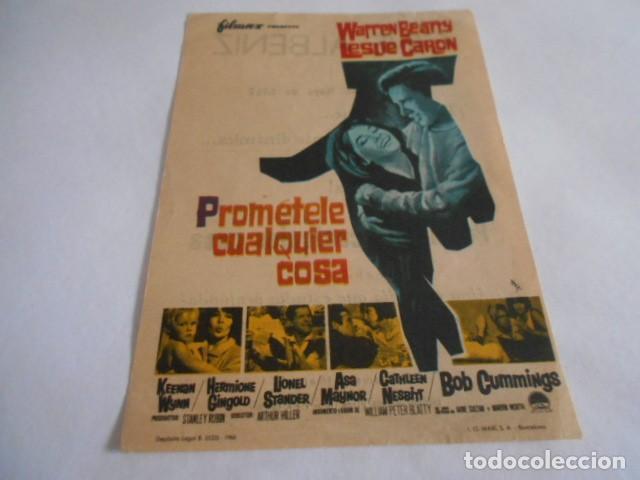 16 - FOLLETO DE CINE - CON PUBLICIDAD - CINE ALBENIZ - PROMETELE CUALQUIER COSA (Cine - Folletos de Mano - Acción)