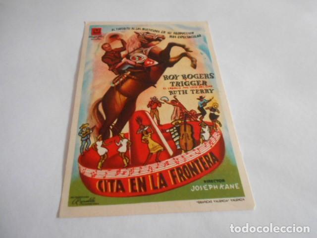 16 - FOLLETO DE CINE - CON PUBLICIDAD - CINE ALBENIZ - CITA EN LA FRONTERA (Cine - Folletos de Mano - Acción)