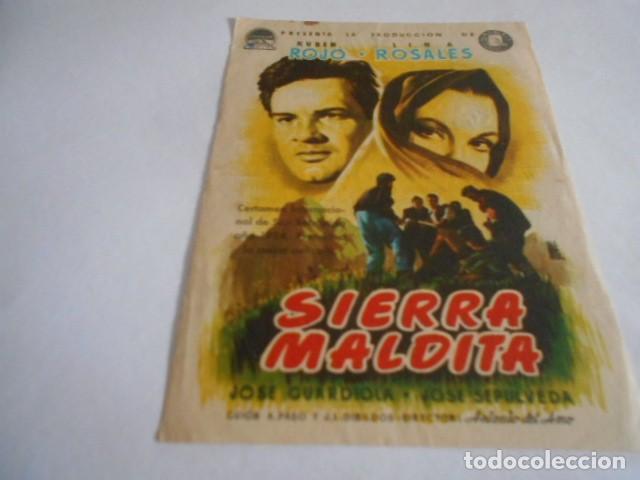 16 - FOLLETO DE CINE - CON PUBLICIDAD - CINE ALBENIZ - SIERRA MALDITA (Cine - Folletos de Mano - Acción)
