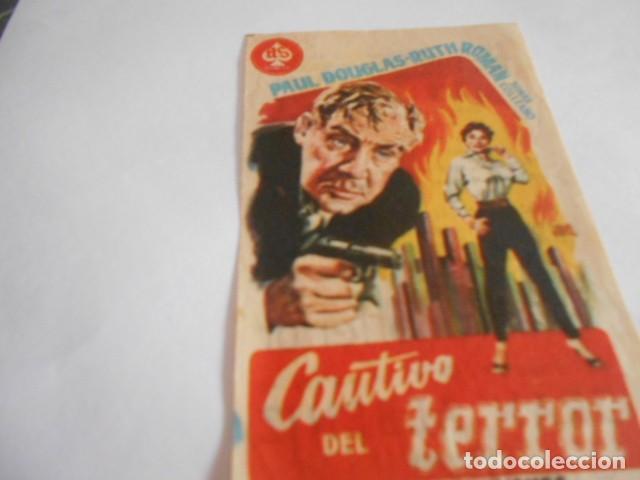 16 - FOLLETO DE CINE - CON PUBLICIDAD - CINE ALBENIZ - CAUTIVO DEL TERROR (Cine - Folletos de Mano - Acción)