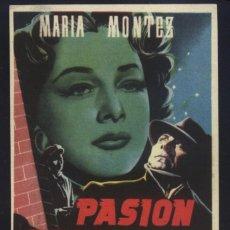 Cine: P-8774- PASIÓN PROHIBIDA (PORTRAIT D'UN ASSASSIN) MARIA MONTEZ - ERICH VON STROHEIM. Lote 206539795