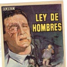 Cine: FOLLETO DE MANO, LA LEY DE HOMBRES. Lote 206554676